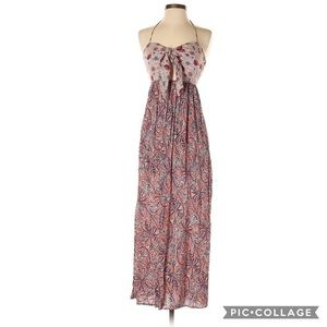 Zara basic casual maxi dress paisley